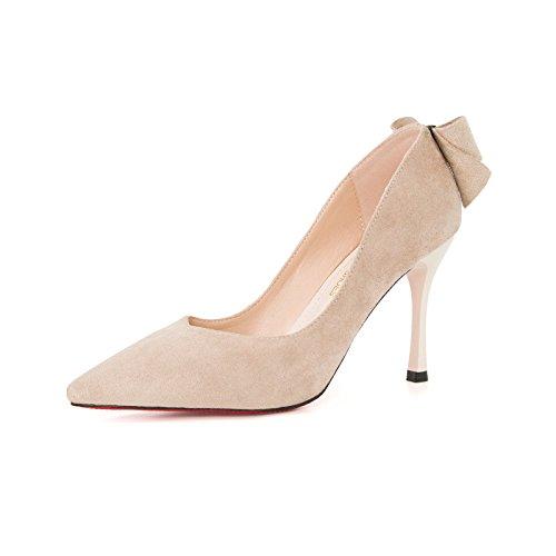 Altos 8Cm Zapatos Tacón Tacón GAOLIM Zapatos O Más De Puntiagudo Zapatos De De Con Mujer Alto Color M Luz Solo En Zapatos Sólido Zapatos blanco De Pajarita Con Multa De wwEAq4xR1