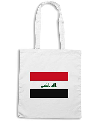 Shirt TM0198 Shopper IRAQFLAG Bianca 2011 Borsa Speed FLAG 8Fqwp8