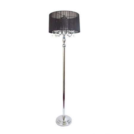 ALTLF1002BLK - Elegant Designs Trendy Sheer Black Shade Floo