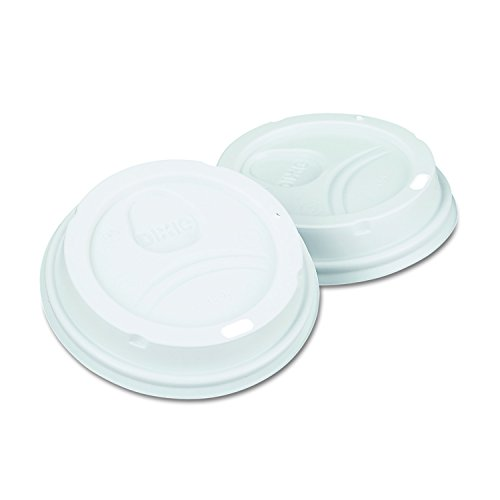 Dixie 9542500DXCT White Dome Lid Fits 10-16oz Perfectouch Cups, 12-20oz Hot Cups, WiseSize (Case of 500) (Dixie Plastic Cup)