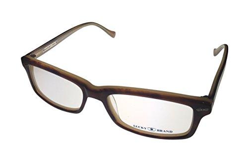 Lucky Eyewear Frame Plastic Tobbacco Horn Plastic Rectangle - Lucky Eyewear