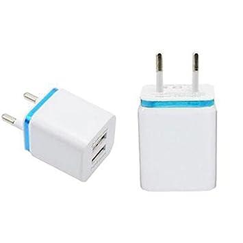 Cewaal 2 puertos USB Viaje a casa Cargador de pared Adaptador de carga Enchufe de la UE Para Cargar Celulares Cámaras IPAD Reproductores MP3