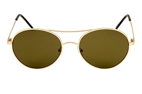 maillechort Soleil Lunettes Or en HARRY femme aviateur et Italy style pour Eligo cr39 monel homme Made lentille in De plaques 05 OwEnd7qF