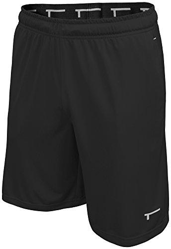 TREN Herren COOL Performance Pump Polyester Short Sporthose mit Seitentaschen Schwarz 001 - XL