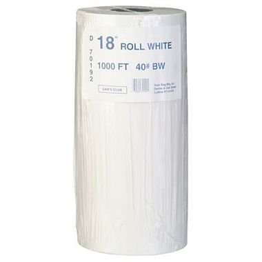 Duro Bag White Paper Roll - 18 (pack of 2)