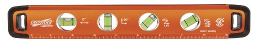 Swanson SVT011 11-Inch Savage Aluminum Torpedo Level with Neodymium (Accurate Aluminum Level)