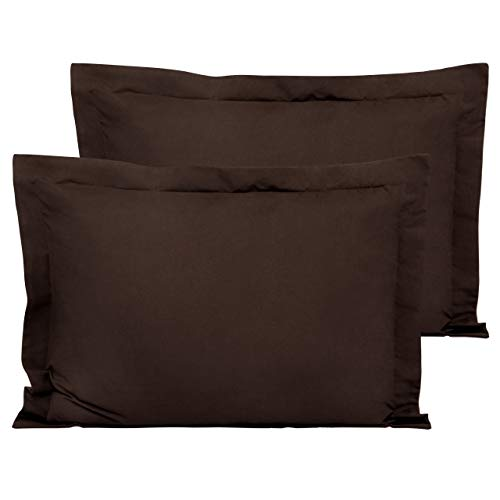 FLXXIE Standard Shams, Pack of 2 Pillowcases, Ultra Soft Microfiber and Premium Quality, 20 x 26, Chocolate