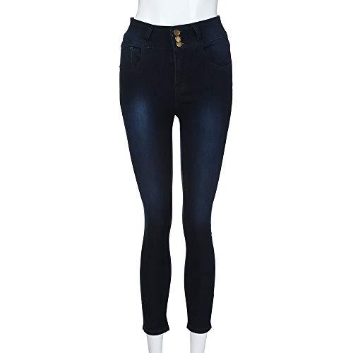 Vaqueros Mujer Mujer Pantalones Mujer Anchos Cadera Tejanos Armada Rotos Skinny Ajustados Alta Altos Tallas Vaqueros lápiz Grandes Talle Elástico Casual FAMILIZO Vaqueros Alto Otoño xwzqwp