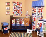 Best Bacati Baby Cribs - Bacati Transportation Multicolor 10 Piece Crib Set Review