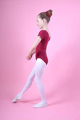 tanzmuster Maillot de Ballet Sally de Manga Corta para niñas en borgoña, 164/170 (15-16 años): Amazon.es: Deportes y aire libre