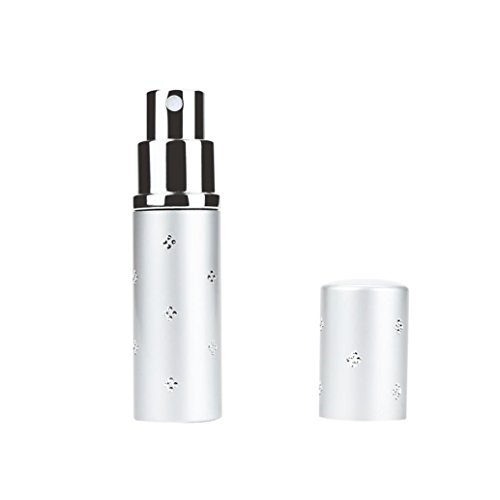 Wensltd Clearance! 10ml Portable Mini Travel Perfume Bottle Atomizer For Spray Scent Pump Case (Silver)