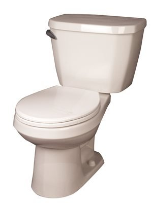 """Gerber Plumbing GVP2859097 Viper Toilet Tank With Right Lever, 1.6 Gpf, 12"""" Rough-In, White"""