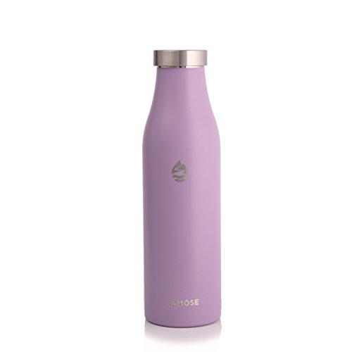 LAMOSE Robson Insulated Bottle | Stainless Steel Sports Water Bottle, BPA Free, Steel Lid, No Plastic, Dishwasher Safe, Perfect Healthy Lifestyle Gift (Lavender, 21 oz)
