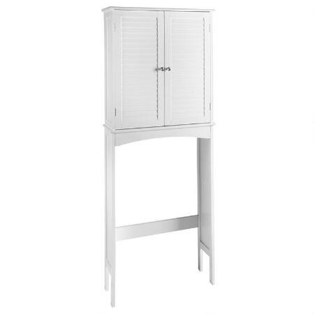 Furniture of America Sylvia Modern White Space Saver Cabinet by Furniture of America