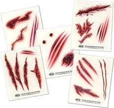 Temporary Tattoos (5 sheets) - Nitefall(TM) Wounds: Amazon.es ...