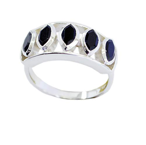 Supply 925 Sterling Silver Fascinating Natural Black Ring, Black Onyx Black Gems Silver Ring