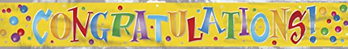 12ft Foil Congratulations Banner ()