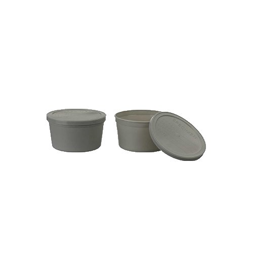 Medegen Medical Products 02726A Lab Specimen Container with Lid, 8 fl. oz. Capacity, Gray (Pack of 250)