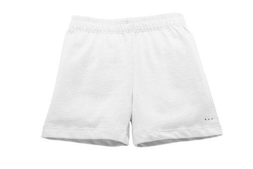 Sparkle Farms Girls Under Dress, Skirt, Uniform Short for Playground Modesty, White, Size 9/10