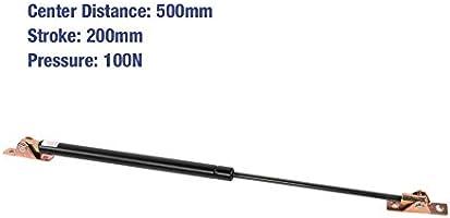 Hydraulische Gasfeder Snackauto Klappt/ür Werbeleiste #7 Lichtbox 500 mm Achsabstand 200 mm Hub 100 N Druckgasdruckfeder f/ür Ger/ätedeckel