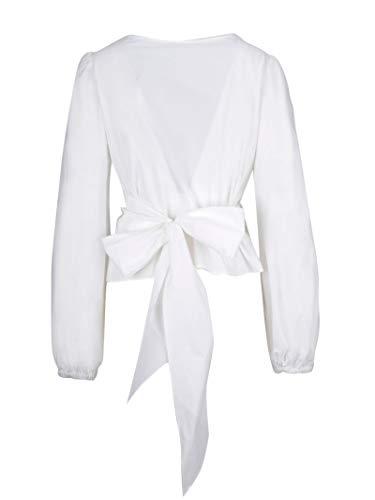 h Coton r Blanc o P s a Blouse D311101z001 Femme wH5xI8vgPq