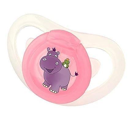 Okt Kids Silicona Chupete con Regulable Anillo 6+ Hippo Rosa ...