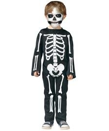 Fun World Unisex Scary Skeleton Toddler Costume, Multicolor, Large (Toddler Zombie Halloween Costumes)