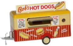 1:76 Oxford Diecast Bobs Hot Dogs Mobile Trailer (Hot Dog Truck Toy compare prices)