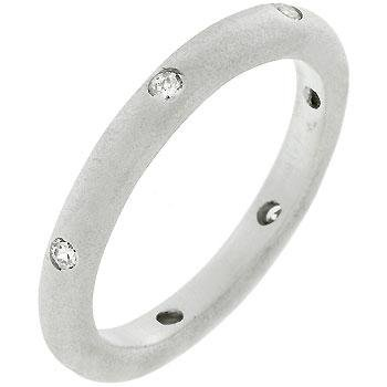 Covet Matte Silver Wedding Band by Covet Jewelry (Image #1)