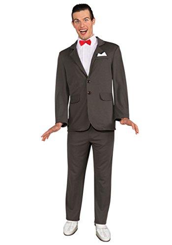 [Rubie's Costume Pee Wee Herman Suit, Gray, Small Costume] (Pee Wee Herman Adult Mens Costumes)