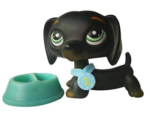 LPSOLD LPS Dachshund 325 Black Blue Eyes Dog Puppy with Accessories Action Cartoon Figure Collection Boy Girl Kid Gift -