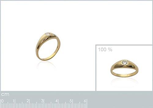 ISADY - Athala Gold - Bague Femme - Plaqué Or 750/000 (18 carats) - Oxyde de zirconium transparent