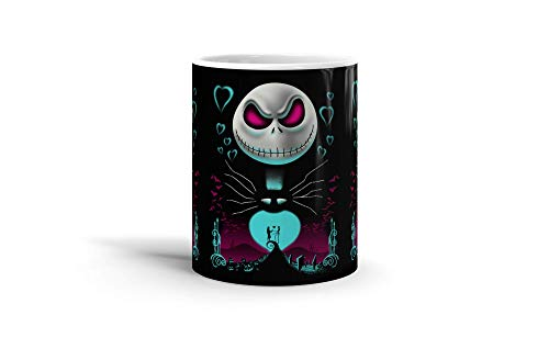 Ceramic Coffee Mug Animated Cartoon Cup Jack From The Halloween Town Cartoons Caricature Drinkware Super White Mugs Family Gift Cups 11oz -