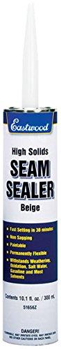 Eastwood Flexible Insulated Waterproof Beige Seam Sealer Cartridge Floor Trunk Fender 10.1 oz