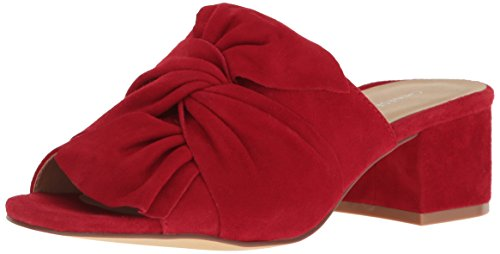 Chinese Laundry Leather Heels - Chinese Laundry Women's Marlowe Mule Sandal, Rebel Red Suede, 9.5 M US