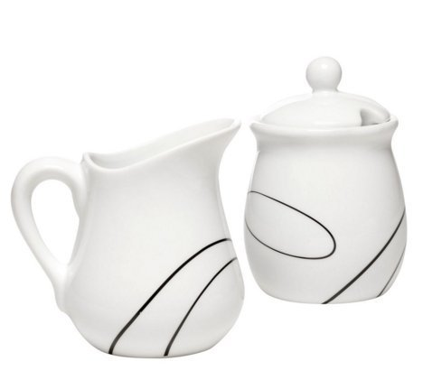 Corelle Simple Lines Sugar and Creamer