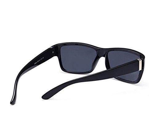 Gris marco Negro conducción cuadradas protectoras del retros Worclub Brillante Gafas de polarizadas sol UV400 Gafas de clásicos gruesas qxgw6aTFC