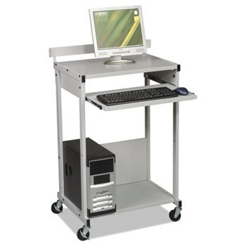 Max Stax Dual Purpose Printer Stand, Three-Shelf, 25w x 20d x 42-1/2h, Gray, Sold as 1 Each