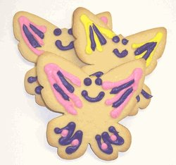 Butterfly Cookies - Scott's Cakes Mixed Color Iced Butterfly Sugar Cookies 1lb. Box