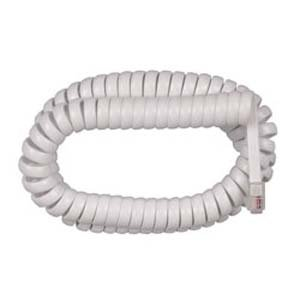 InstallerParts RJ22 Coiled Telephone Cord, White (12FT)