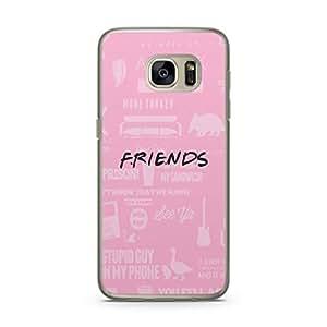Samsung Galaxy S7 Transparent Edge Case Friends