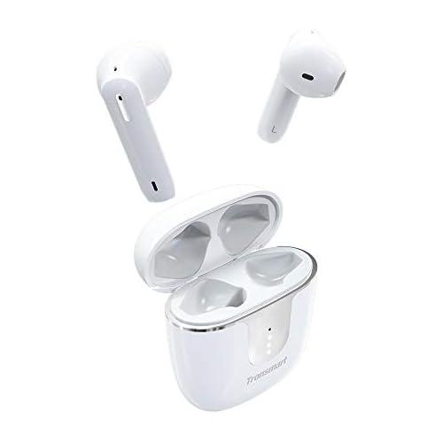 chollos oferta descuentos barato Tronsmart Onyx Ace Auriculares inalámbricos bluetooth 5 0 TWS In Ear Earbuds con 4 micrófonos Cancelación de Ruido CVC 8 0 audio Qualcomm aptX 24H Reproducción asistente de voz Blanco