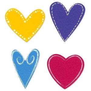Dies 4 Sizzlits (Sizzix Sizzlits Die Set 4PK - Hearts Set)