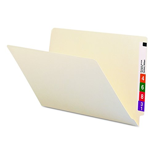 Smead 27100 Shelf Folders, Straight Cut, Single-Ply End Tab, Legal, Manila (Box of 100) ()
