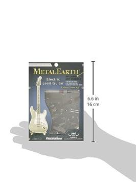 Metal Earth Lead Guitar Maqueta Guitarra eléctrica Color Plata Fascinations MMS074: Amazon.es: Juguetes y juegos