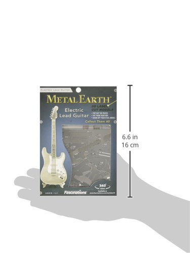 Metal Earth Lead Guitar Maqueta Guitarra eléctrica Color Plata Fascinations MMS074: Amazon.es: Juguetes y juegos