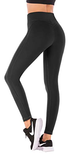Pockets Workout Leggings for Women 4 Way Stretch Yoga Leggings with Pockets (Black 7850, Small) ()