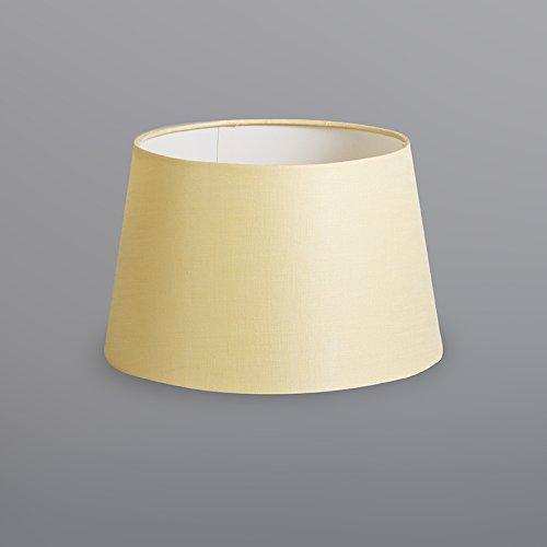 Redonda//C/ónica Pantalla l/ámpara colgante,Pantalla l/ámpara de pie QAZQA Lino Pantalla 25cm c/ónica DS E27 lino gris crema