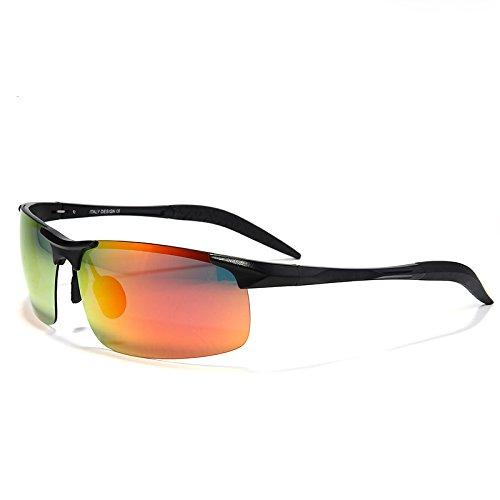 reflectante modo en Bastidor UV400 de la polarizadas reflexión nero oro de de sol de lente hombres gafas de TIANLIANG04 magnesio sol aluminio gafas capa impulsar anti Il qPppIwa