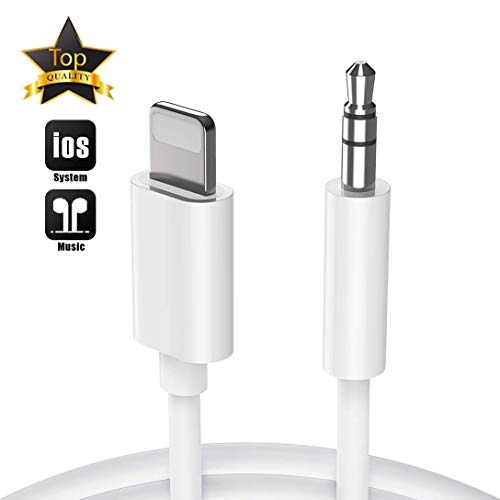 Aux Cord for iPhone X Car Audio & Video Input Cables Compatible with iPhone 11 XR/XS/XS MAX /8/8 Plus/7/7 Plus/ 6/6 Plus iPod/iPad Home Stereo/Headphone/Speaker Support All iOS- White (Iphone For Stereo Car)